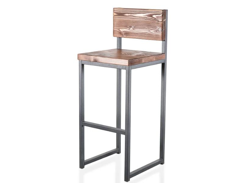 фото Барный стул Лофт-1 дерево
