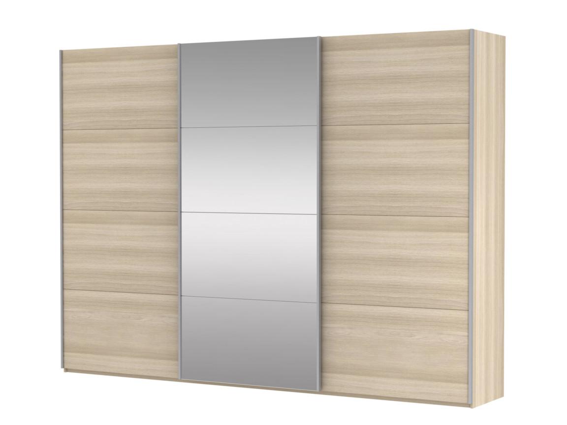 фото Шкаф-купе 3-х дверный Прайм ДСП-Зеркало Сонома