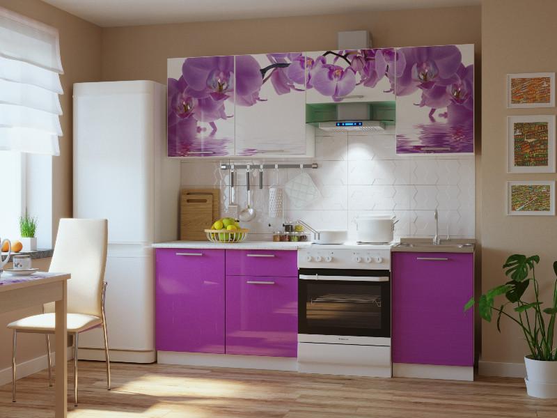 фото Кухонный гарнитур Риал 2К-100-сиреневый 2100