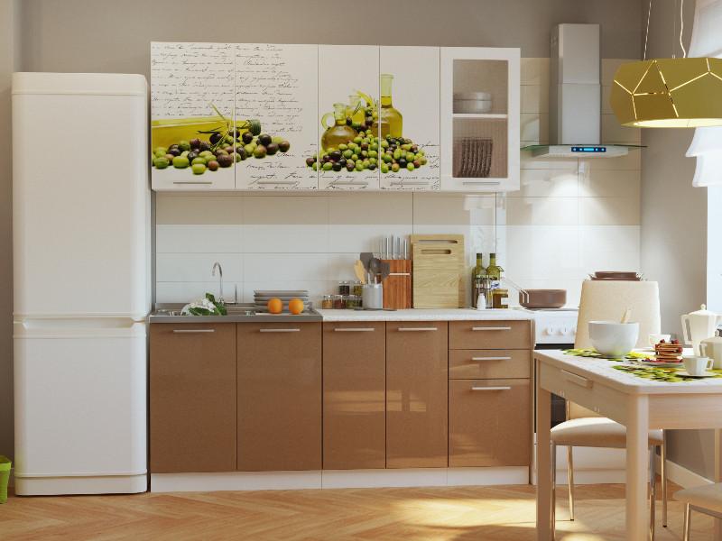 фото Кухонный гарнитур Риал К-63-Капучино 1800
