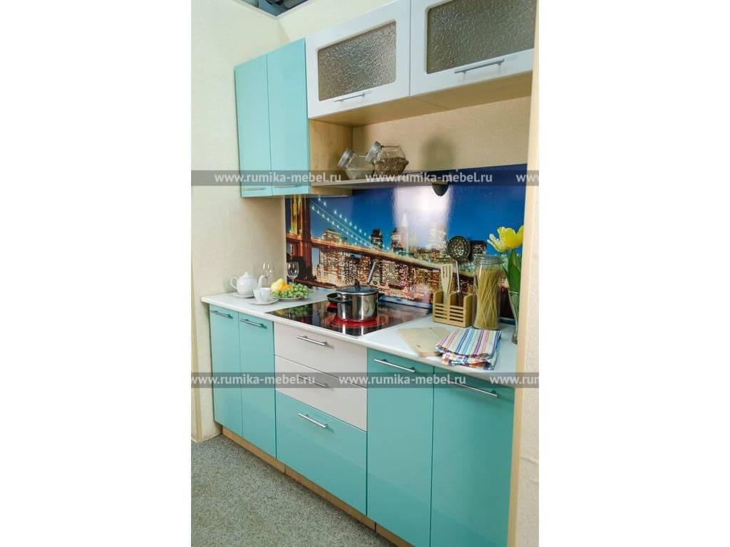 фото Кухня Фантазия металлик волна-белый