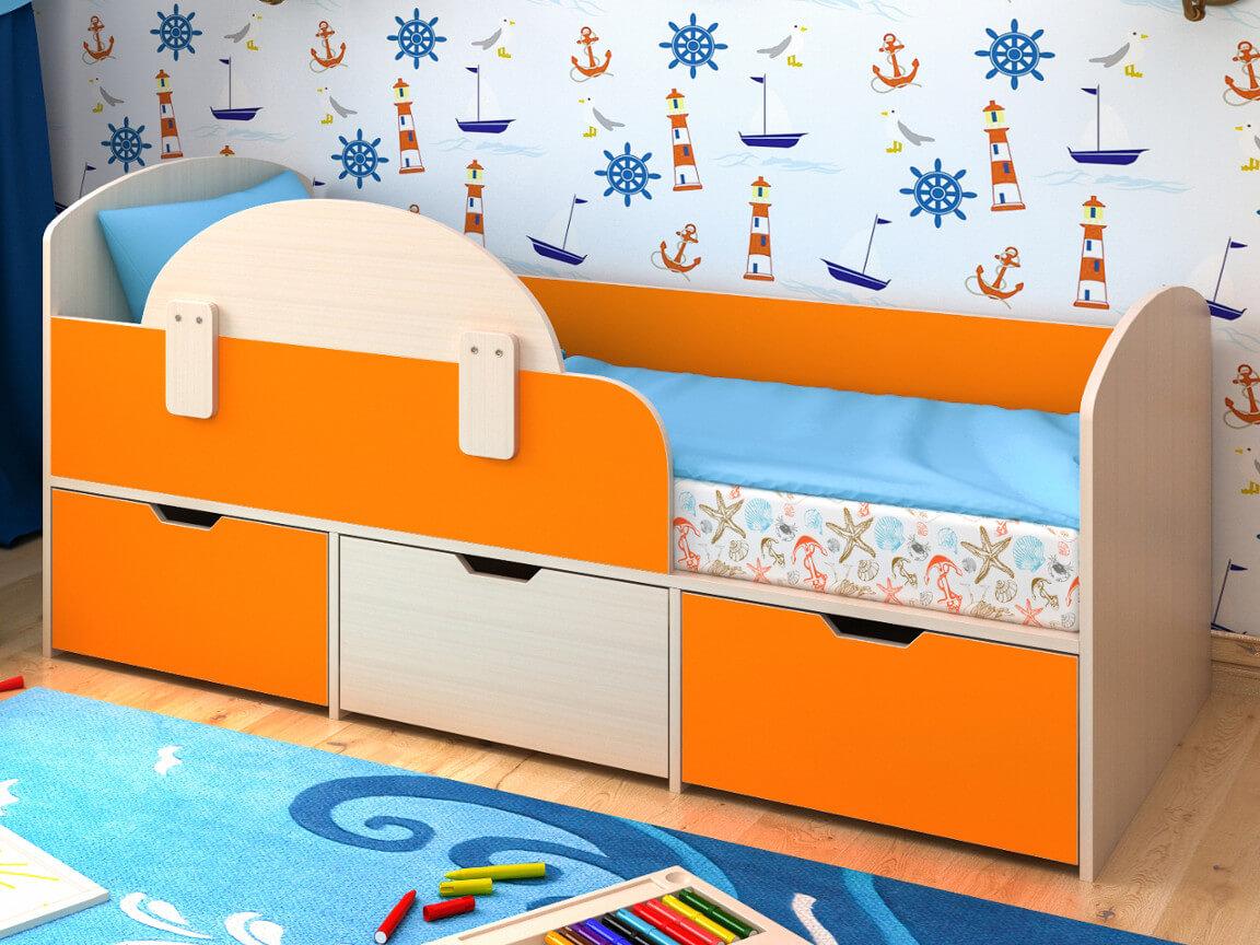 фото Кровать Малыш Мини с бортиком