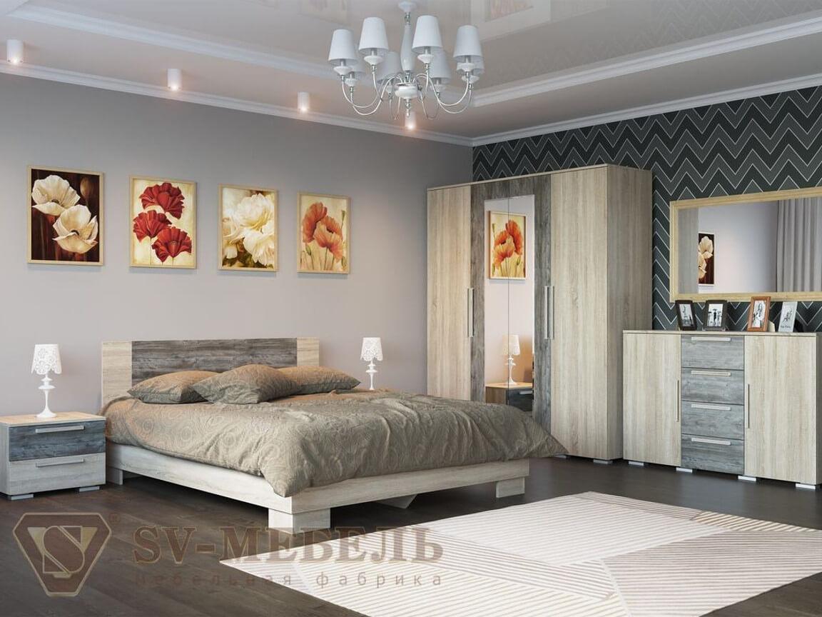 фото Спальня Лагуна-2 ЛДСП Сосна Джексон