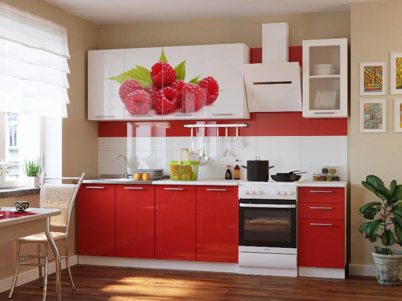 фото Кухонный гарнитур Риал К-80-красный 2000