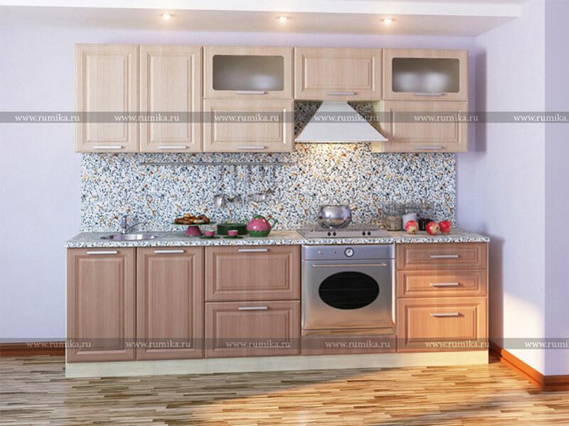 фото Кухня Фантазия Лен белый - Лен темный