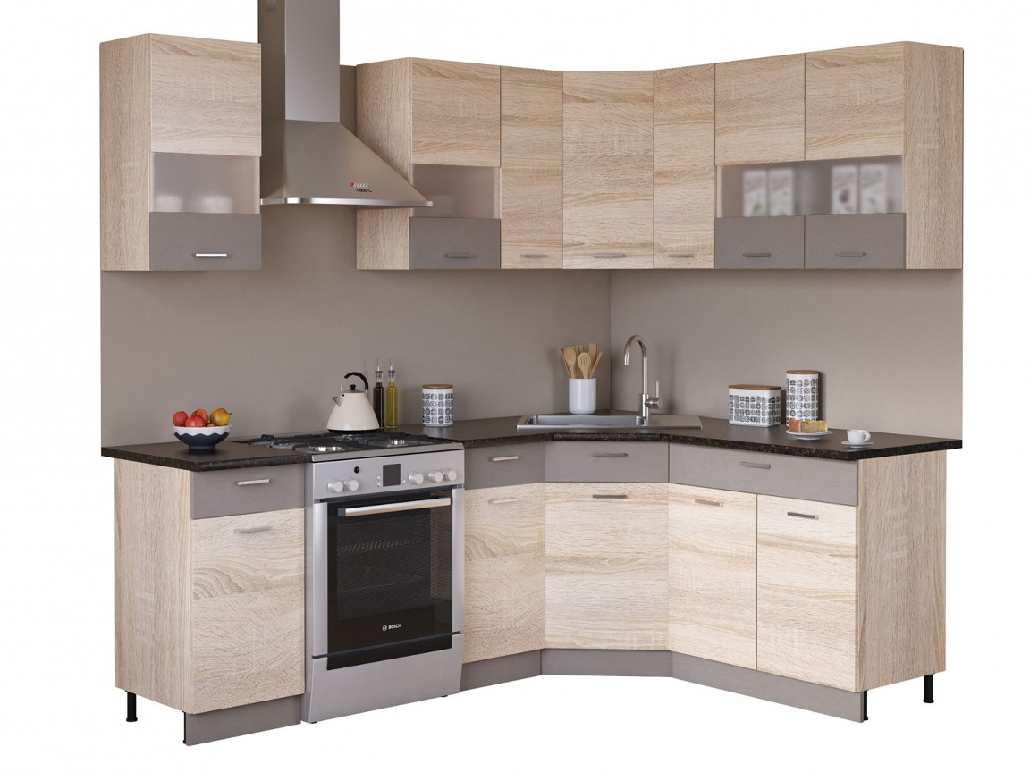 фото Угловая кухня Николь 1650х1650