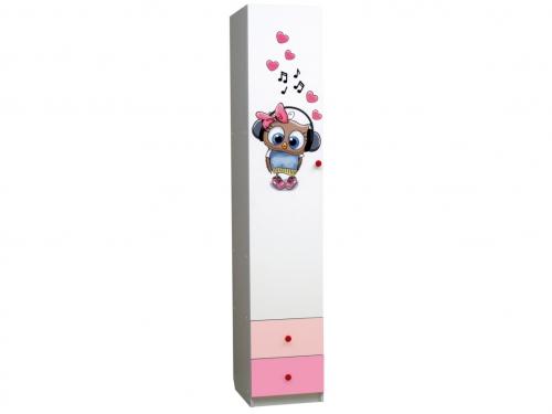 Шкаф 1-но дверный с ящиками Совята 1-2