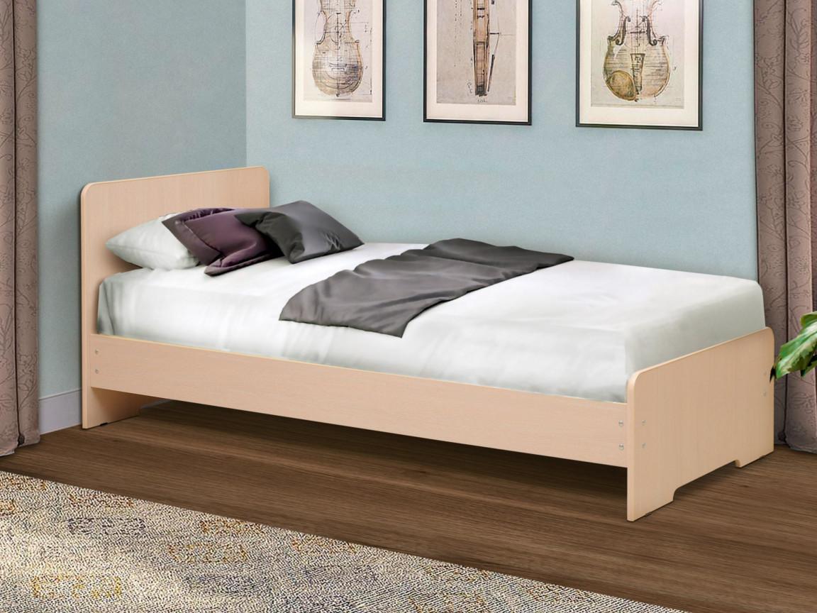 фото Кровать одинарная на уголках No 5 Матрица