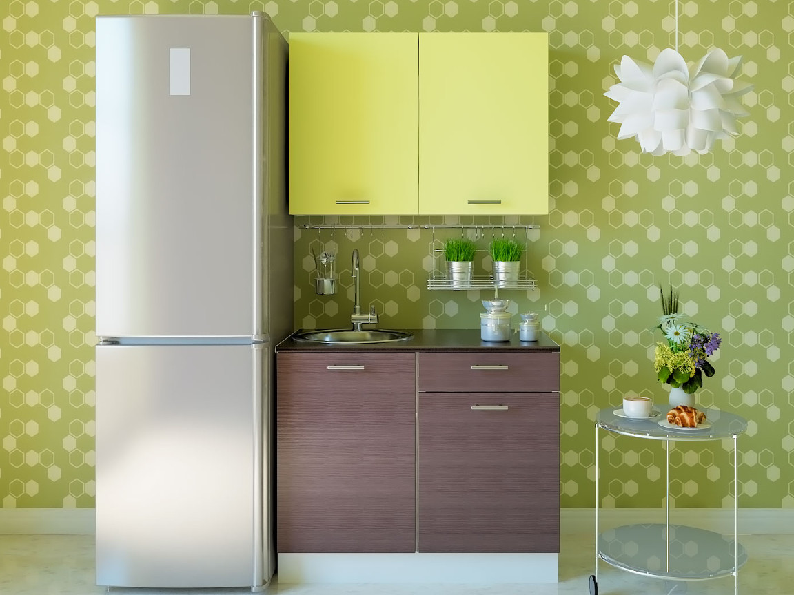 фото Кухня Комфорт Бодега темная-Лимон