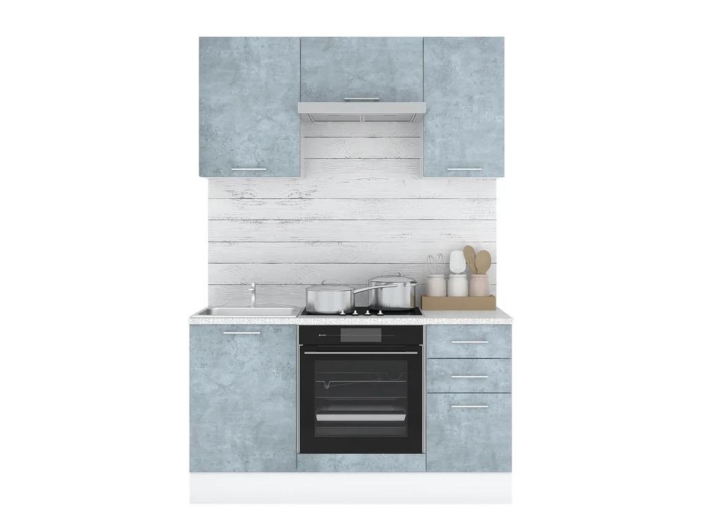 фото Кухонный гарнитур Лофт 1500 камень оленна