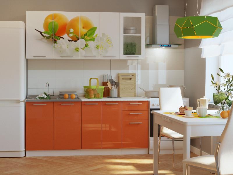 фото Кухонный гарнитур Риал K-59 Оранжевый 1800