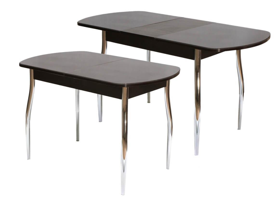 фото Стол обеденный раздвижной со стеклом Гала 1
