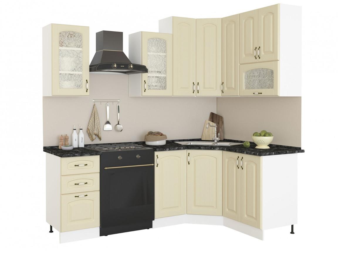 фото Угловая кухня Равенна Фаби 1650х1450 высокие шкафы