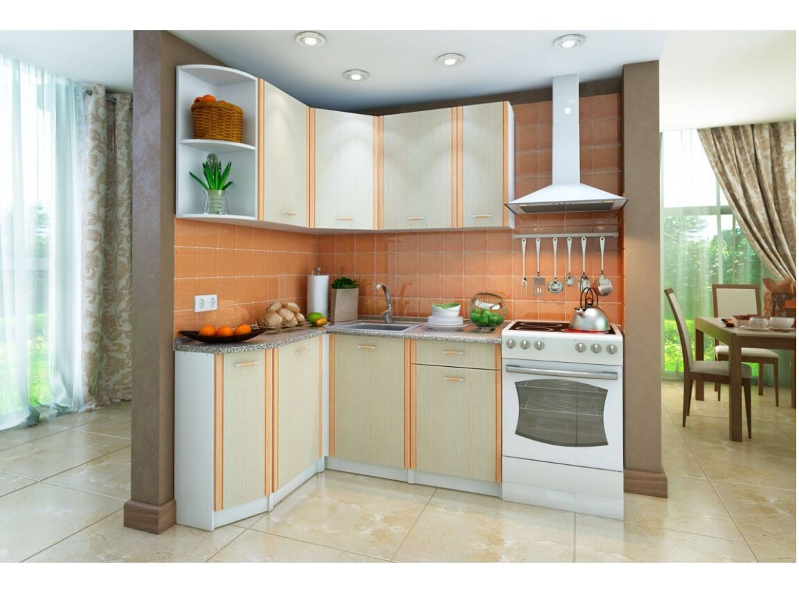 фото Кухонный угловой гарнитур левый Бланка СТЛ.123.00