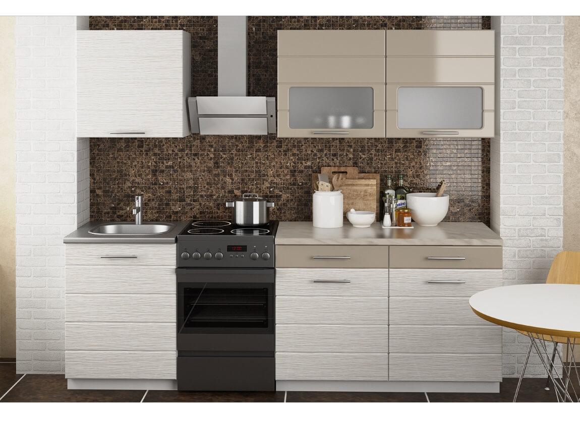 фото Кухня Венеция МДФ Мокко-Дым 1800
