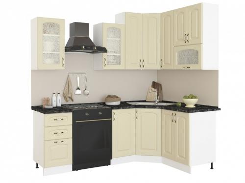 Угловая кухня Равенна Фаби 1650х1450 высокие шкафы