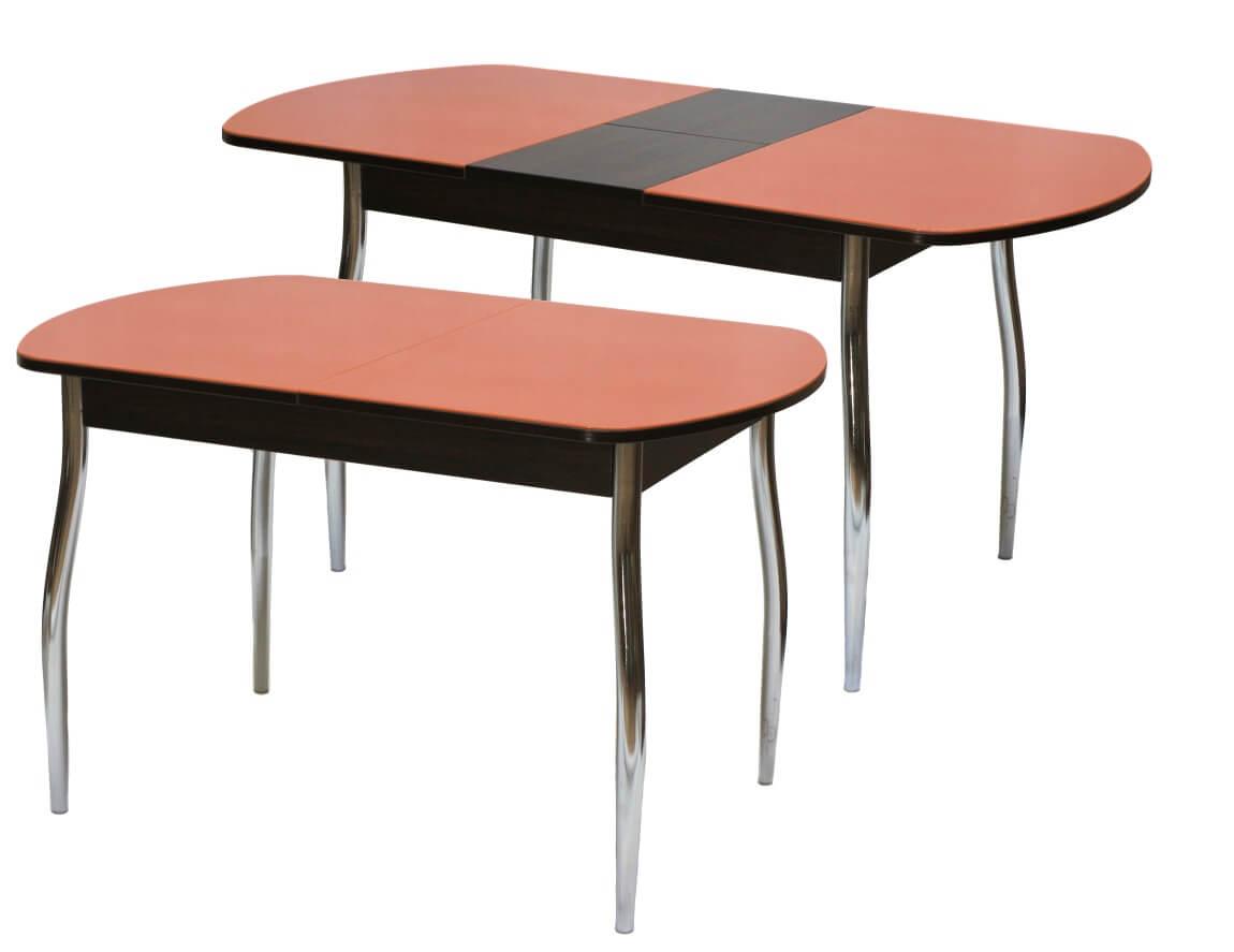 фото Стол обеденный раздвижной со стеклом Гала 2