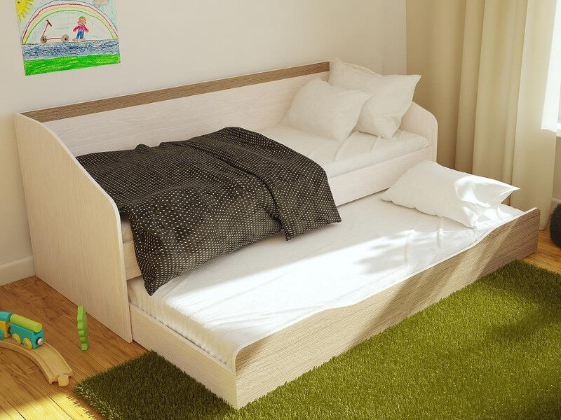 фото Кровать выдвижная двухуровневая Паскаль