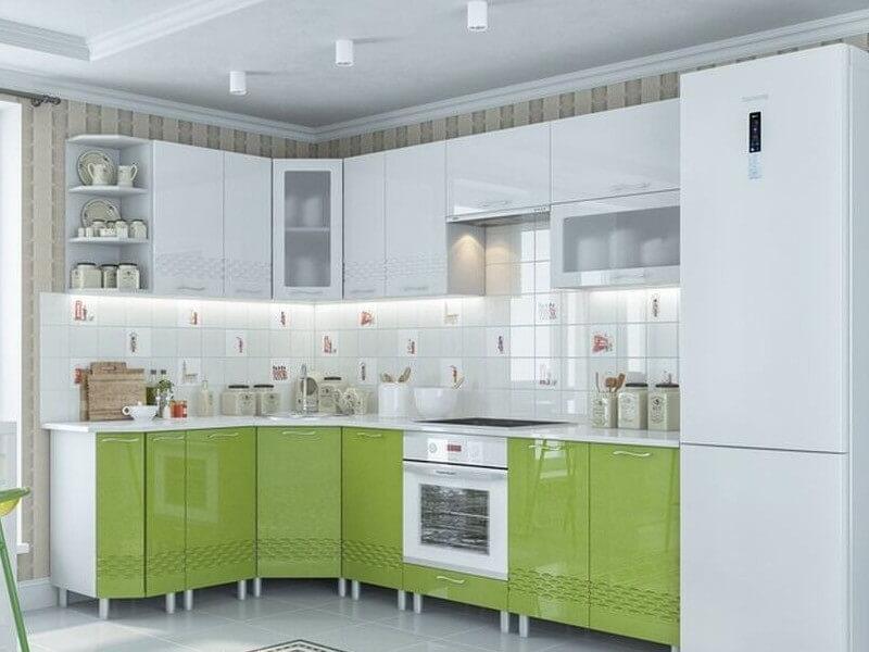фото Кухня Волна Олива