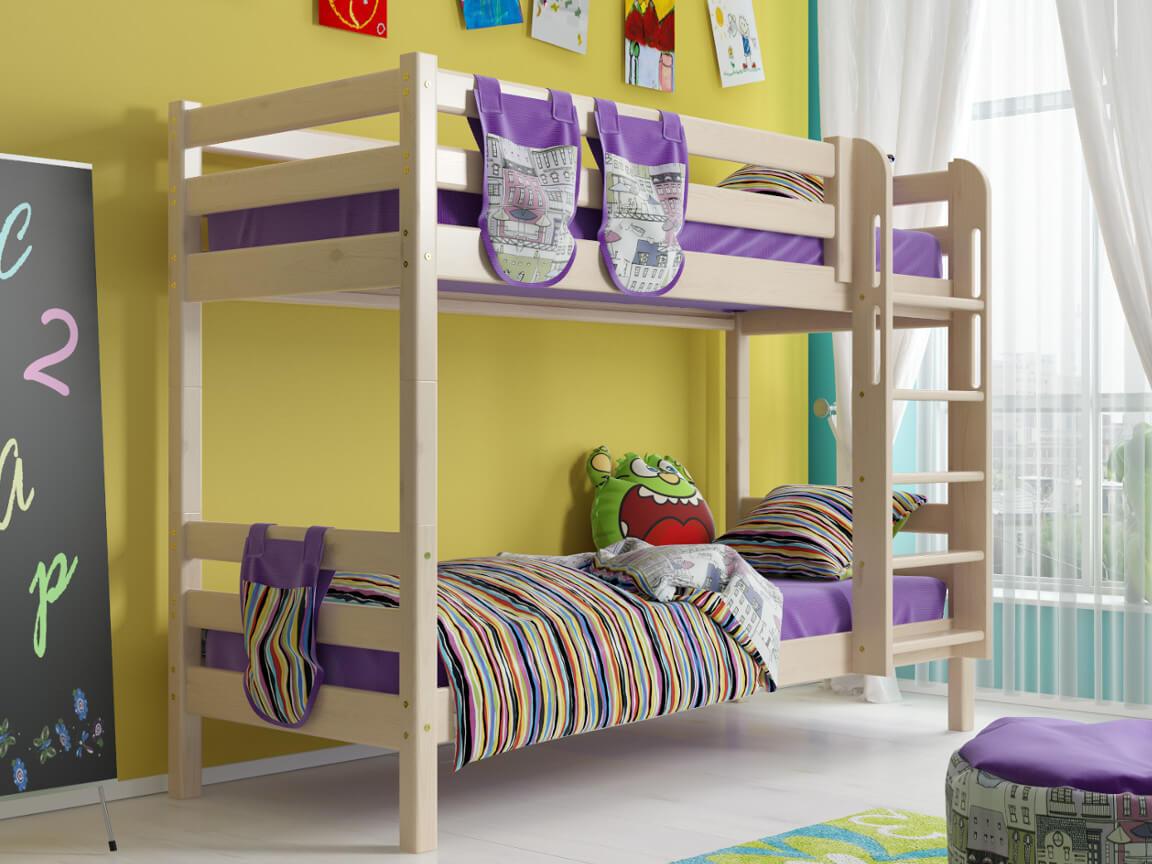 фото Двухъярусная кровать Соня с прямой лестницей No 9