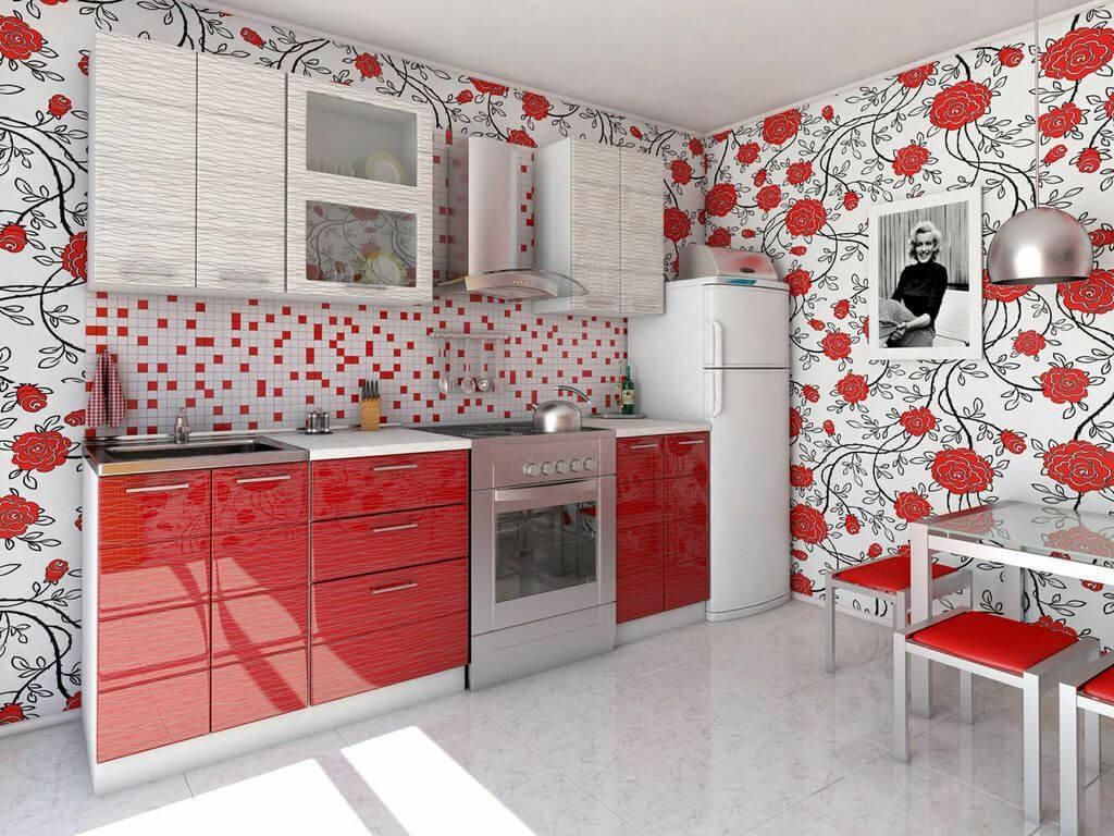 фото Кухня Соло-красный дождь