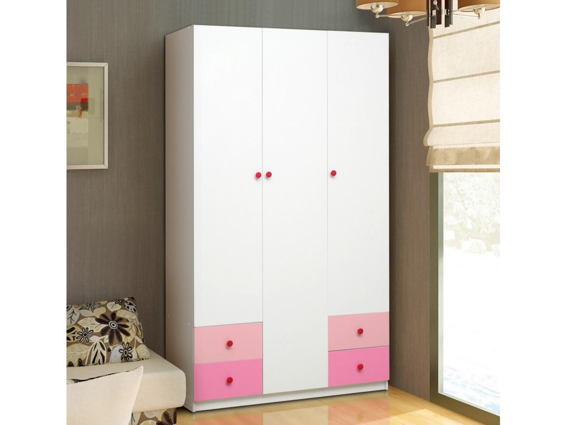 фото Шкаф 3-х дверный с ящиками Радуга