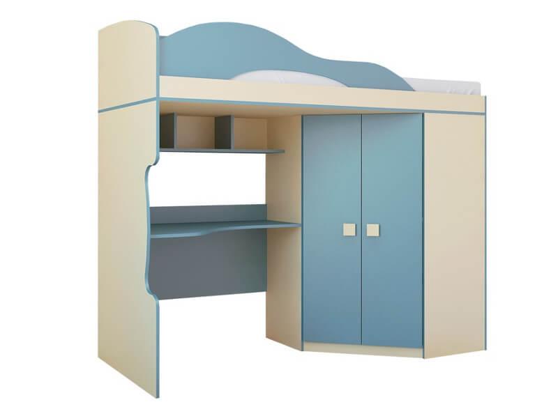 Кровать 2-х этажная со шкафом 2032х1870х852 мм