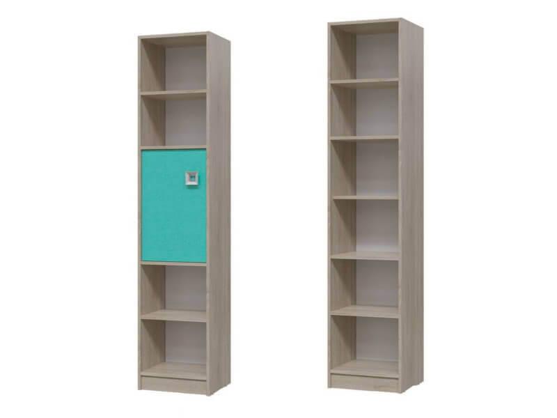 Шкаф стеллаж с дверкой  6-9413 1905х410х355 мм