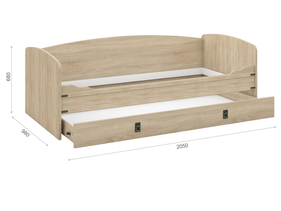 Диван-кровать с настилом 2050х980х680 мм