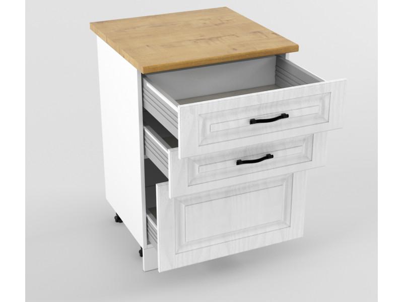 Нижний шкаф Н 600 3 ящика 850х600х600