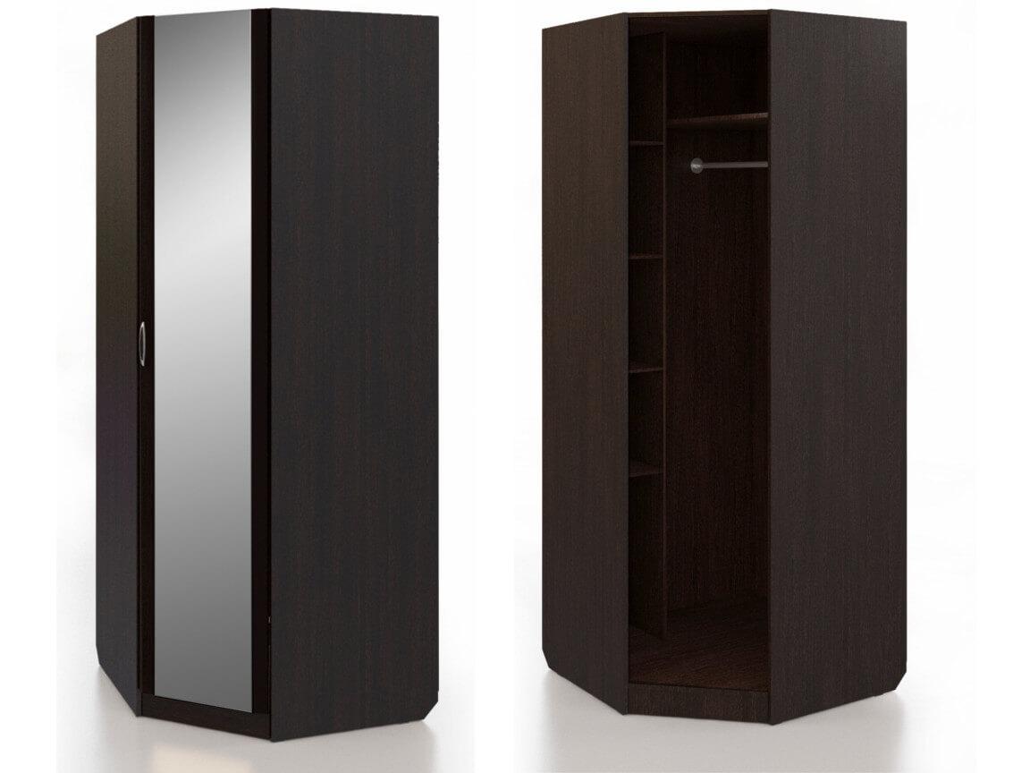 Шкаф угловой с зеркалом 900х900х2235 мм
