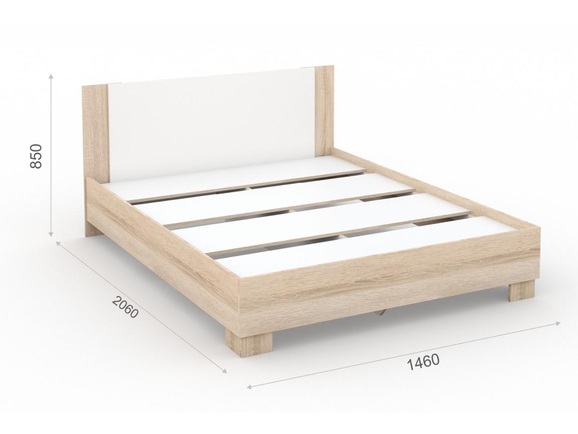 Кровать 140х200 основание ЛДСП 1460х2060х850 мм