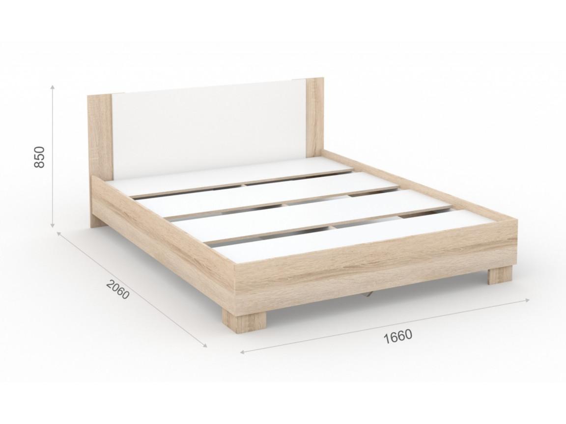 Кровать 160х200 основание ЛДСП 1660х2060х850 мм