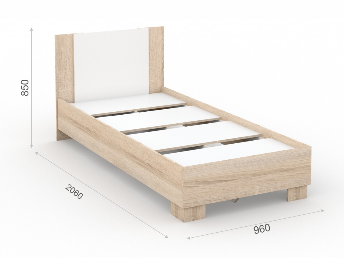 Кровать 90х200 основание ЛДСП 960х2060х850 мм