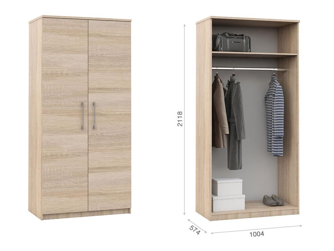 Распашной шкаф 2дв 1004х574х2118 мм