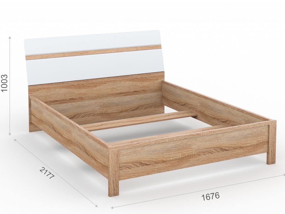 Кровать 160х200 без ламелей  1676х2177х1003 мм