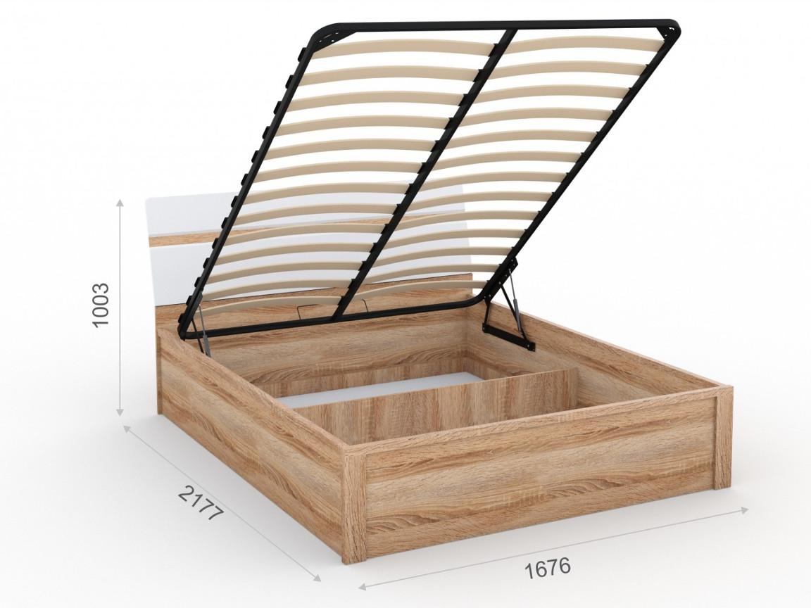 Кровать 160х200 с подъемным механизмом  1676х2177х1003 мм
