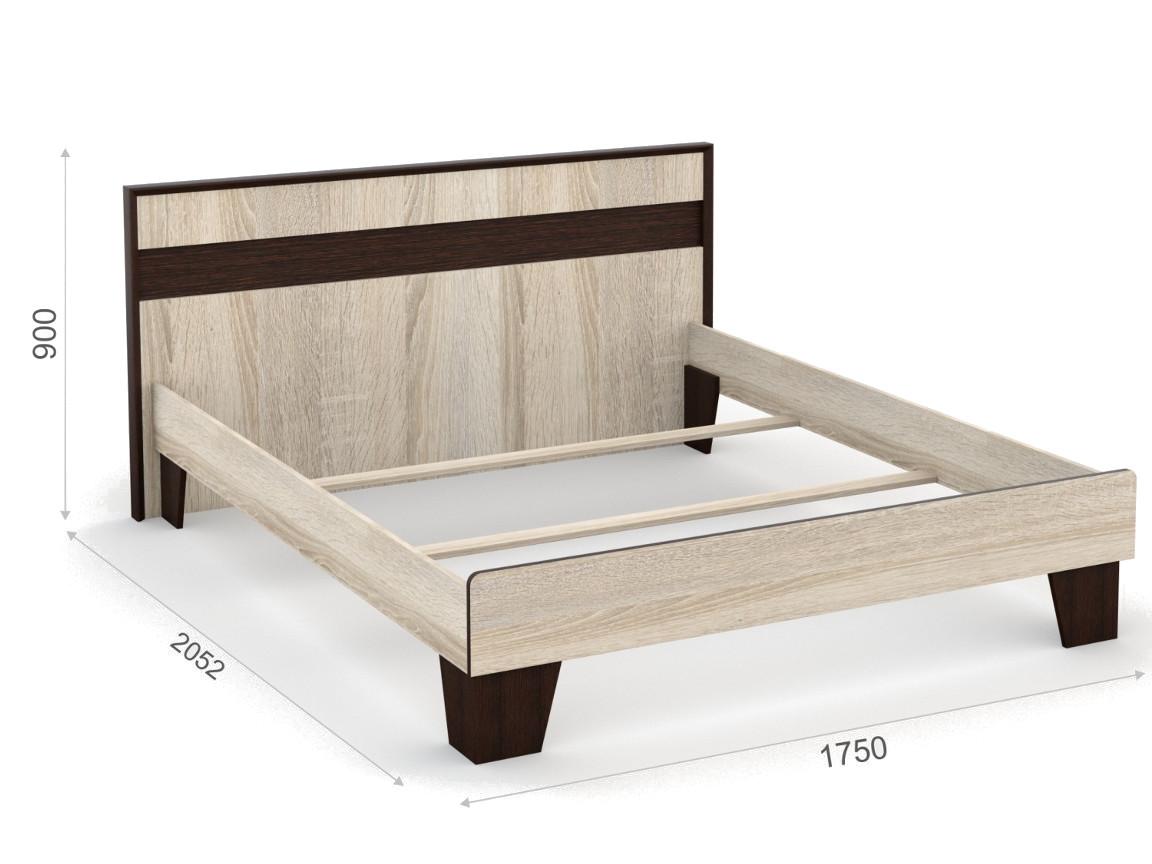 Кровать 160х200 без ламелей 1750х2052х900 мм