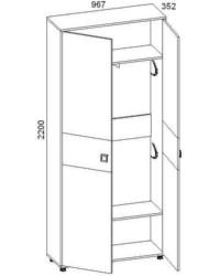 Шкаф для одежды 28.01 967х352х2200