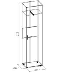 5 Шкаф для одежды и белья 560х400х2113