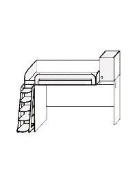 Кровать чердак ПМ 139.01 2506х1237/841х высота 2200 мм