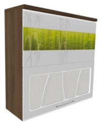 Шкаф-витрина с системой плавного закрывания дверей 17.81 800х320х830