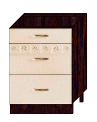 Стол с 3 ящиками метабоксы 10.66.2 600х470х820 без столешницы