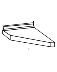 Столешница торцевая левая ПФК 03.30 лев. 300 мм. к столу 10.65.1