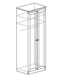 Шкаф для одежды 609 800х548х2248