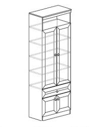 Шкаф для книг 611 800х368х2248. Полки - ДСП