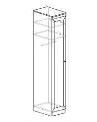 Шкаф для одежды 614 400х548х2248