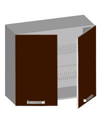 14.10 Шкаф навесной 800 с 2-мя глухими фасадами и сушкой. Размер 800х320х720