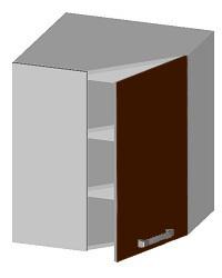 14.14 Шкаф навесной угловой с глухим фасадом. Размер 597х597х720