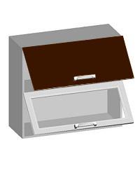 14.19 Шкаф навесной 800 с 2-мя комбинированными фасадами. Размер 800х320х720